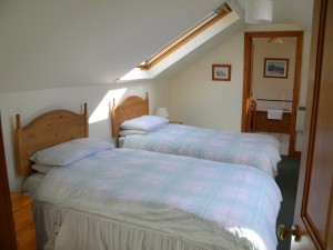 Twin Bedroom in Hare Cottage