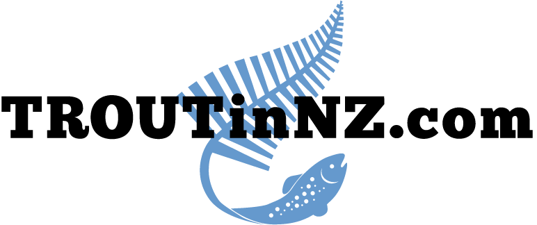 Trout fishing in New Zealand logo